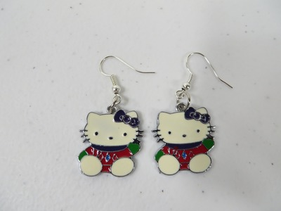 How To Make Custom Hello Kitty Charm Earrings Tutorial Simple