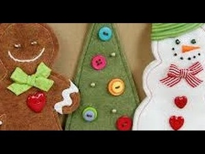HOW TO MAKE FELT CHRISTMAS ORNAMENTS