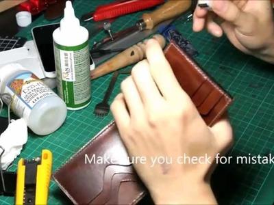 Leather craft basic: Edge coating