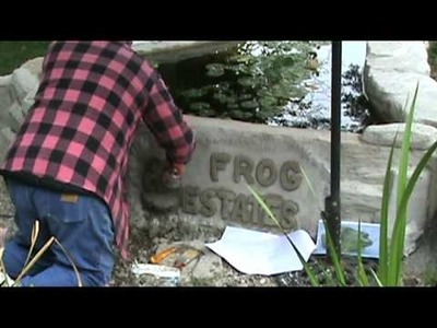 Making a Faux Rock Wall Part 3 Adding a Frog and Finishing
