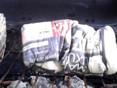Paper briquette burn test #1