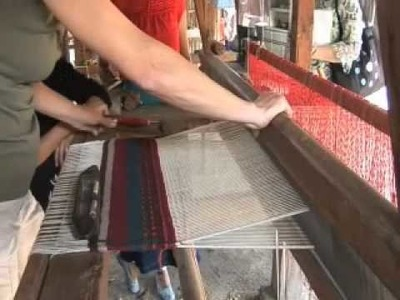 Zapotec Women's Cooperative; Alisa and Sean Work the Loom