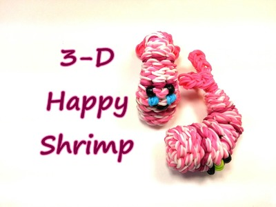 3-D Happy Shrimp Tutorial by feelinspiffy (Rainbow Loom)
