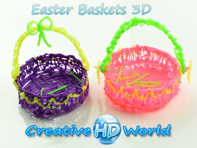 3Doodler: Easter Basket 3D - How to Tutorial 3D Printing Pen DIY Creations