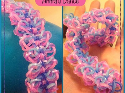 Anitra's Dance bracelet tutorial (hook only) rainbow loom bands