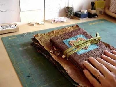 Brown Paper Fabric Junk Journal