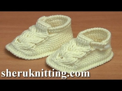 Crochet Cable Stitch Buckle Shoes For Baby Tutorial 54 Part 2 of 3
