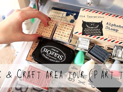 Desk & Craft area tour (Part 2) | MyGreenCow