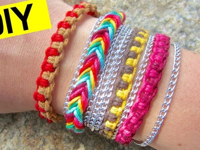 DIY Friendship Bracelets | How to Make a Fishtail Bracelet