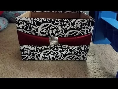 DIY: how to make storage box from diaper box organize.decorate room closet