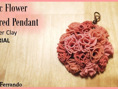Fabric Flower Inspired Pendant - Polymer Clay TUTORIAL