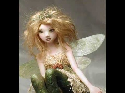 Fairy Clay Sculpture OOAK Polymer Clay Art Doll Faebymckay Song is