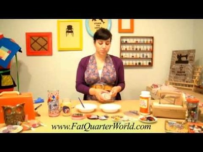 Fat Quarter World - Fabric Covered Candle Holders