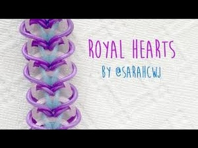 (Full)Rainbow Loom Bands Royal Hearts Bracelet by Raihan