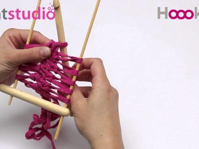 Haakvork. Hairpin Lace loom. Netzgabel