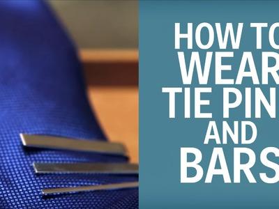 How Men Should Wear Tie Bars, Tie Pins, & Lapel Pins
