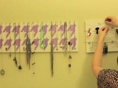 How to - Jewelry Canvas hang and fill