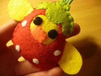 How to Make a Kawaii Kiiroitori in a Strawberry Costume Plush