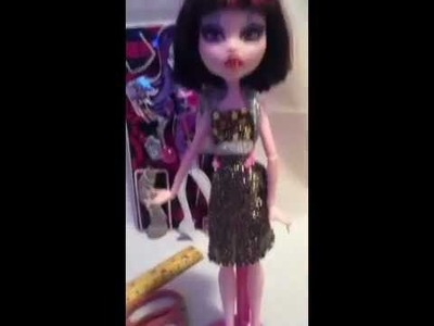 How to make a monster high doll dress #2