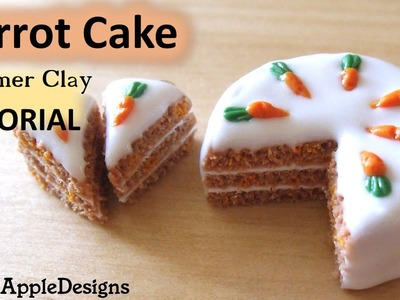 How to Make a Polymer Clay Carrot Cake TUTORIAL