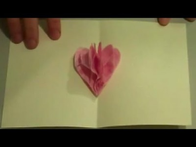 How to Make a Pop Up Tissue Paper Valentine Heart Card