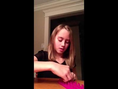 How to make a saddle rainbow loom!!!