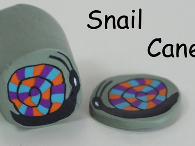 How to make a Snail cane - Polymer clay tutorial