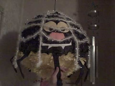 How to make a spider pinata