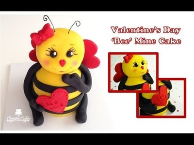 How to make a Valentine's Day 'Bee' Mine 3D Cake from Creative Cakes by Sharon