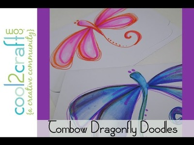 How to Make Dragonfly Doodles with Tombow Dual Brush Pens by Tiffany Windsor