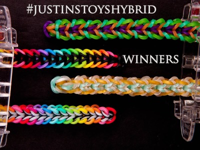 #JUSTINSTOYSHYBRID winners! Best 4 Rainbow Loom Fishtail Designs