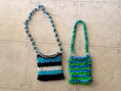 Make a Purse on a loom Learning with J J