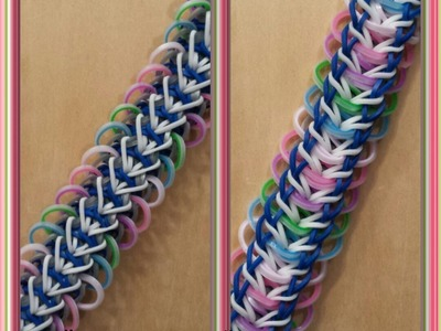 "My NEW ""Behind Bars"" Rainbow Loom Bracelet.How To Tutorial"
