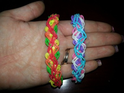 "New ""Crazy Azey Criss cross"" Rainbow Loom Bracelet"