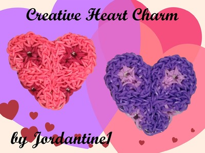 New Creative Heart Charm - Monster Tail or Rainbow Loom - Valentine's Day