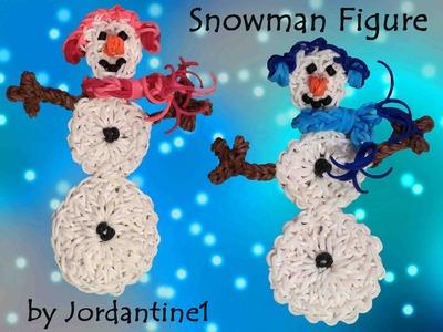 New Snowman Figure. Charm. Ornament - Rainbow Loom Winter