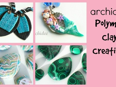 Polymer Clay Creations & Cabochons Update | Clay components with Embroidery, Wire and Micromacramè
