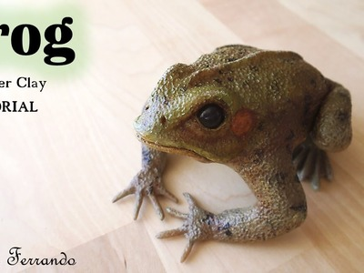 Polymer Clay Frog Sculpture Tutorial | Maive Ferrando