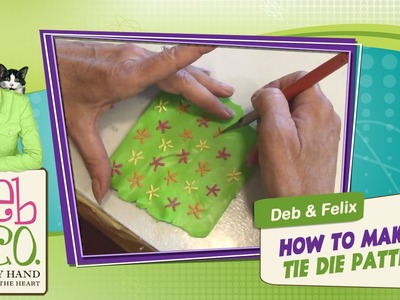 Polymer Clay Tutorial - How to Make a Tie Dye Pattern