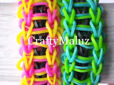 Pulsera De Gomitas Modelo Escalera. How to make the rainbow loom bracelet: Ladder
