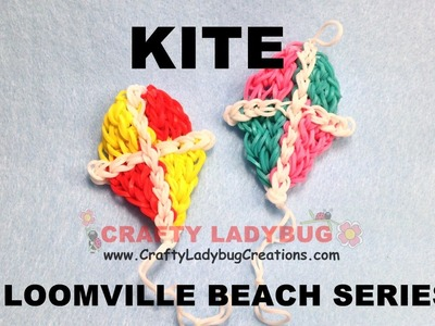 Rainbow Loom Bands BEACH KITE Advanced Charm Tutorials.How to Make by Crafty Ladybug