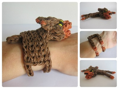 Rainbow Loom bear bracelet Loombicious