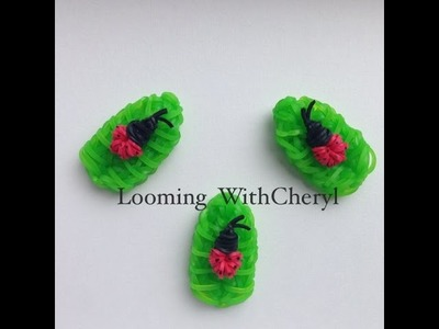 Rainbow Loom Ladybug baby and Leaf - Gomitas - Looming WithCheryl