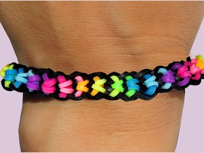 Rainbow Loom Nederlands Boxed Bow Bracelet Loom Bands Tutorial armband