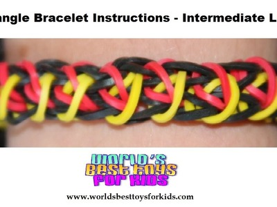 Rainbow Loom Rubber Band Refill - Rectangle Bracelet  Instructions