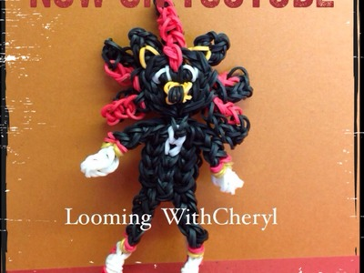 Rainbow Loom Shadow the Hedgehog ( Sonic ) - Looming WithCheryl