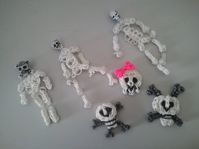 RAINBOW LOOM - SKULLS AND SKELETONS