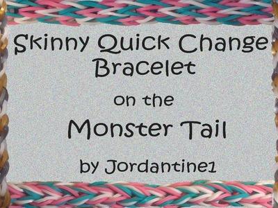 Skinny Quick Change Reversible Bracelet - Monster Tail - Rainbow Loom