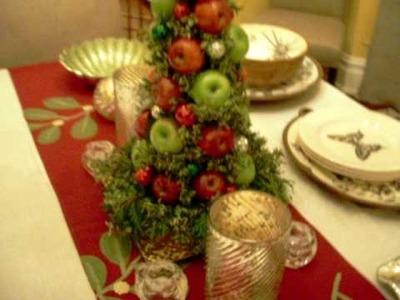 TABLESCAPE HOLIDAY CENTERPIECE live floral art deco designs by Tu Bloom Garden & Landscapes