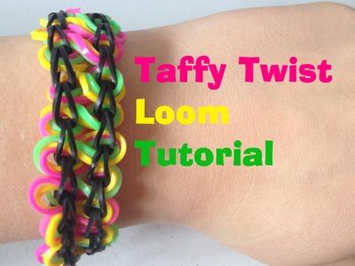 TAFFY TWIST Loom Bracelet Tutorial Rainbow Looml JasmineStarler